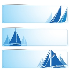 Sailboat banners vector