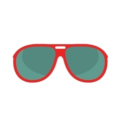 Red glasses isolated on white background vector