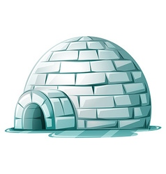 Igloo on icy ground vector