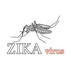 Zika virus symbol isolated thin line icon vector