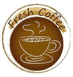 A fresh coffee label vector image vector image