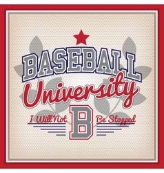 Baseball University Badge vector image