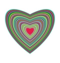 Big beautiful colorful heart vector image