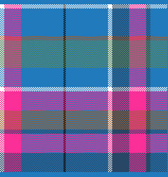 Blue pink pixels pattern seamless fabric texture vector