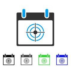 Bullseye calendar day flat icon vector