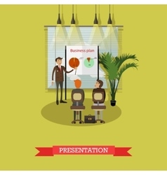 Business plan presentation concept vector image