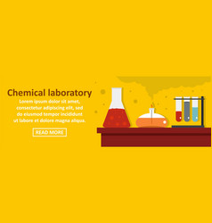chemical laboratory banner horizontal concept vector image