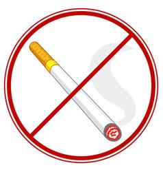 cigarette ban symbol vector image
