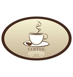 Coffee label vector image vector image