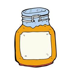 Comic cartoon marmalade preserve vector