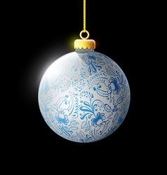 Decoration Christmas tree vector image