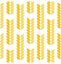 Ear of wheat seamless pattern vector