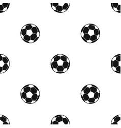 Football soccer ball pattern seamless black vector