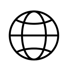 Globe diagram vector