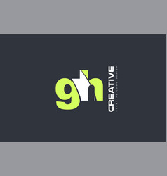 green letter gh g h combination logo icon company vector image vector image