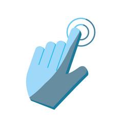 hand cursor clicking icon image vector image