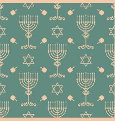 Hanukkah seamless pattern with vector