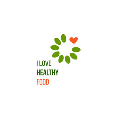 i love healthy food idea vector image vector image