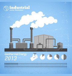 Industrial plant template vector