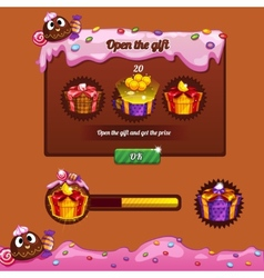 Interface game design theme candy vector