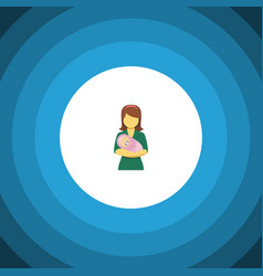 Isolated kid flat icon woman element can vector