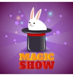 Magic hat trick show background poster vector image vector image