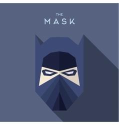 Mask flat hero villain superhero style icon vector