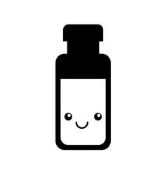 milk bottle kawaii character vector image