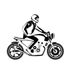 Moto bike icon cafe racer vector