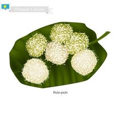 Pichi-pichi or palauan dessert vector
