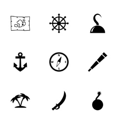 pirate icon set vector image