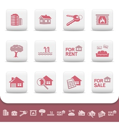 Professional real estate icons vector image