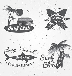Set of Surf club concept Summer surfing retro vector image vector image