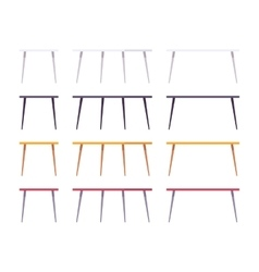 Set of tables vector