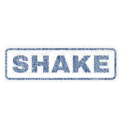 Shake textile stamp vector