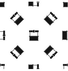 Shopping counter pattern seamless black vector