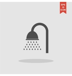 Shower icon Flat design style vector image vector image