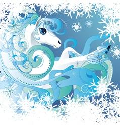 Winter horse vector image vector image