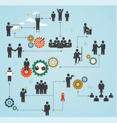 Workforce team working business people in motion vector