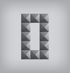 0 number zero alphabet geometric icon and sign vector image