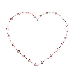 Heart shaped beads vector