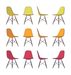 Set of chairs vector image