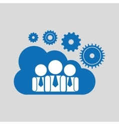 Cloud network group cooperation connection design vector