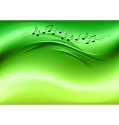 Abstract music green vector