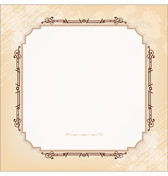 Vintage imperial frame grunge background vector
