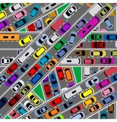 Traffic congestion on roads vector