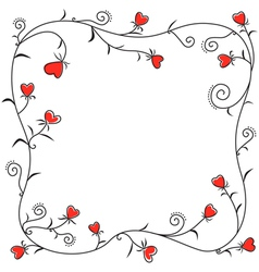 Valentine heart border vector