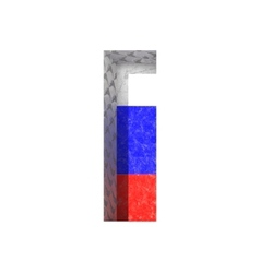 Russian cutted figure i paste to any background vector