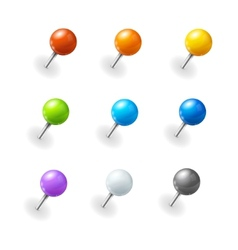 Pushpins set vector