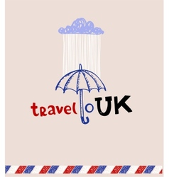 London style greeting card vector